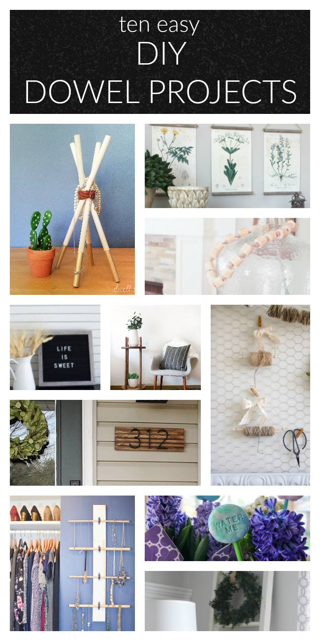 10 Easy dowel rod project ideas for your home!