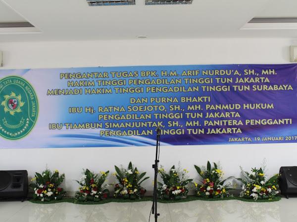Pengantar Tugas sekaligus Purna Bhakti di PTTUN  Jakarta