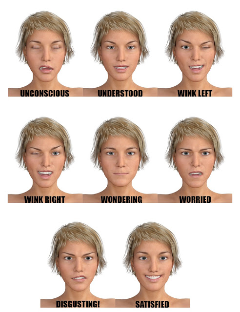 Genesis 3 Female Expressions Face aniBlocks