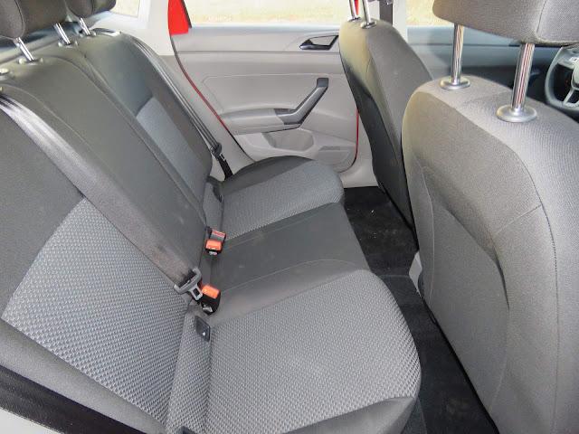 Novo VW Polo 2018 - interior - espaço traseiro