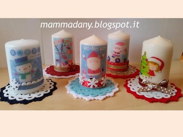 candele di natale stampate e decorate