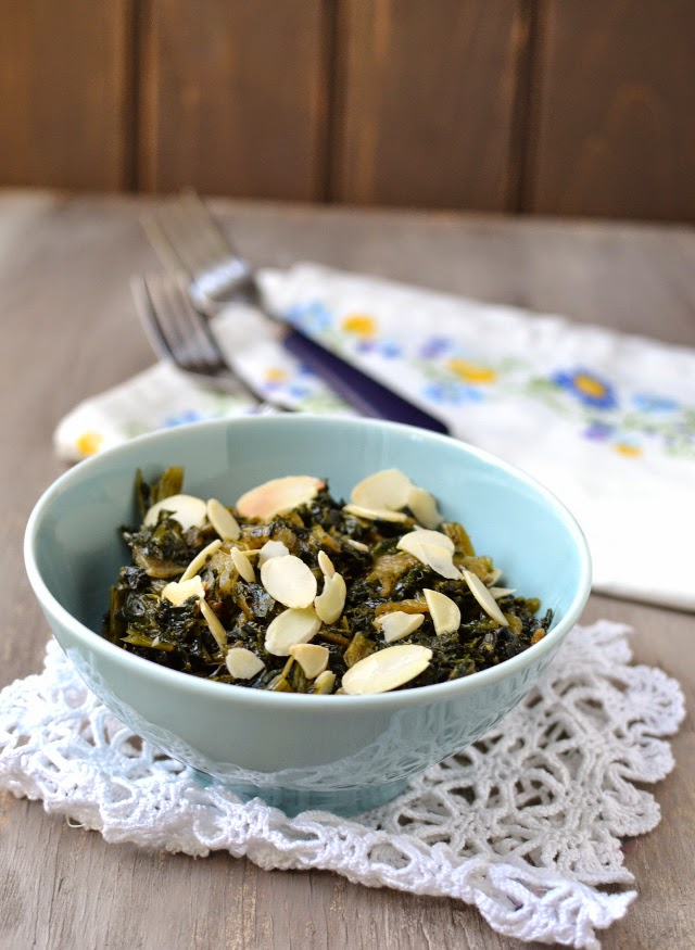 Curly Kale with Caramelized Onions