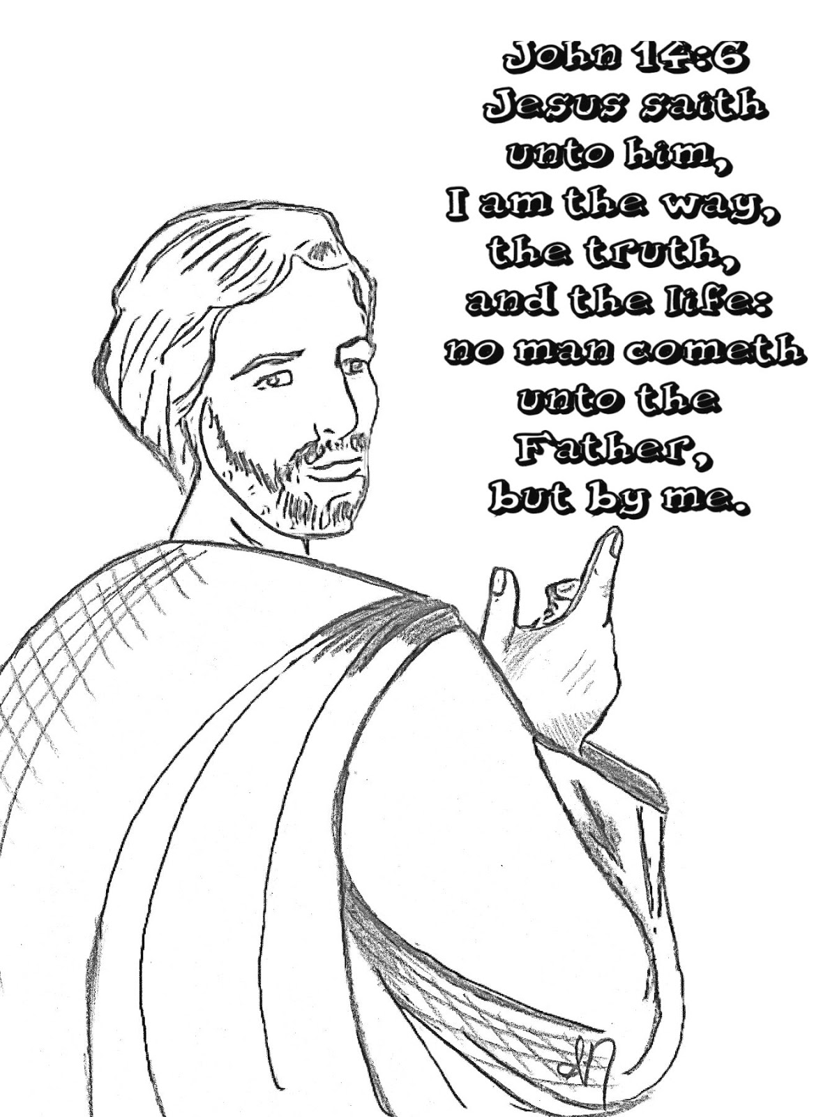 Children's Gems In My Treasure Box: John 14:6 Coloring Page