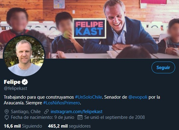 Denuncian a Senador Felipe Kast