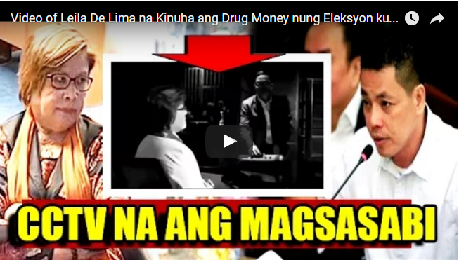 WATCH: Video of Leila De Lima na Kinuha ang Drug Money nung Eleksyon kumakalat