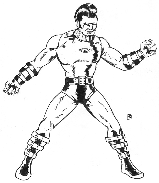 NewtCave: Sketchbook: OMAC, Kirbyesque
