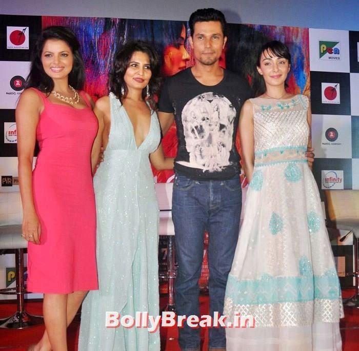 Tripta Parashar, Rachna Shah, Randeep Hooda, Ferena Wazeir, Pics from 'Rang Rasiya' Music Launch