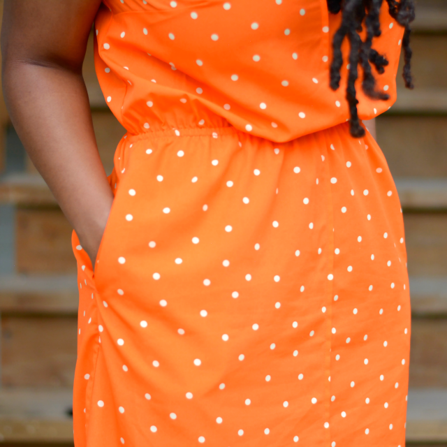merona orange polka dot dress
