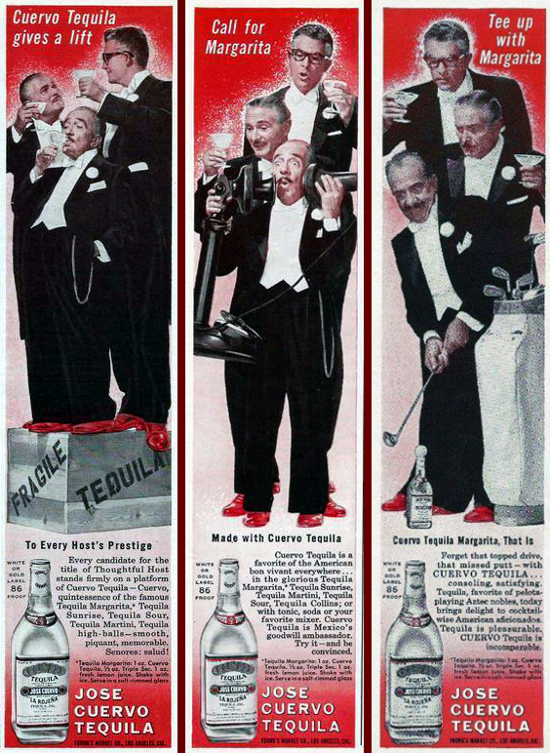 Jose Cuervo Tequila ad, Playboy 1960-61