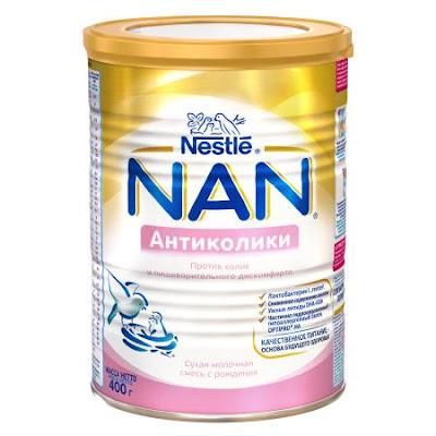 Sữa NAN anti-collic hộp 400 gr - Sữa NAN Nga xách tay chính hãng