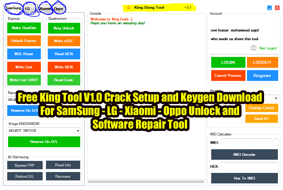 New ! - King tool latest full crack setup and keygen