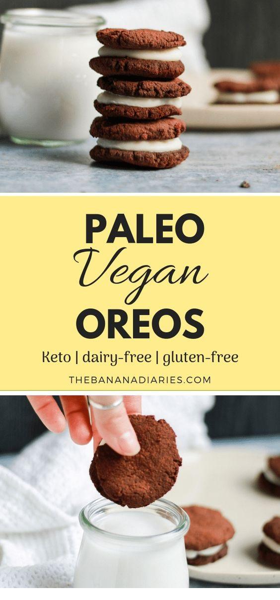 Paleo Vegan Oreo Cookies {Grain Free, Gluten Free, Keto}