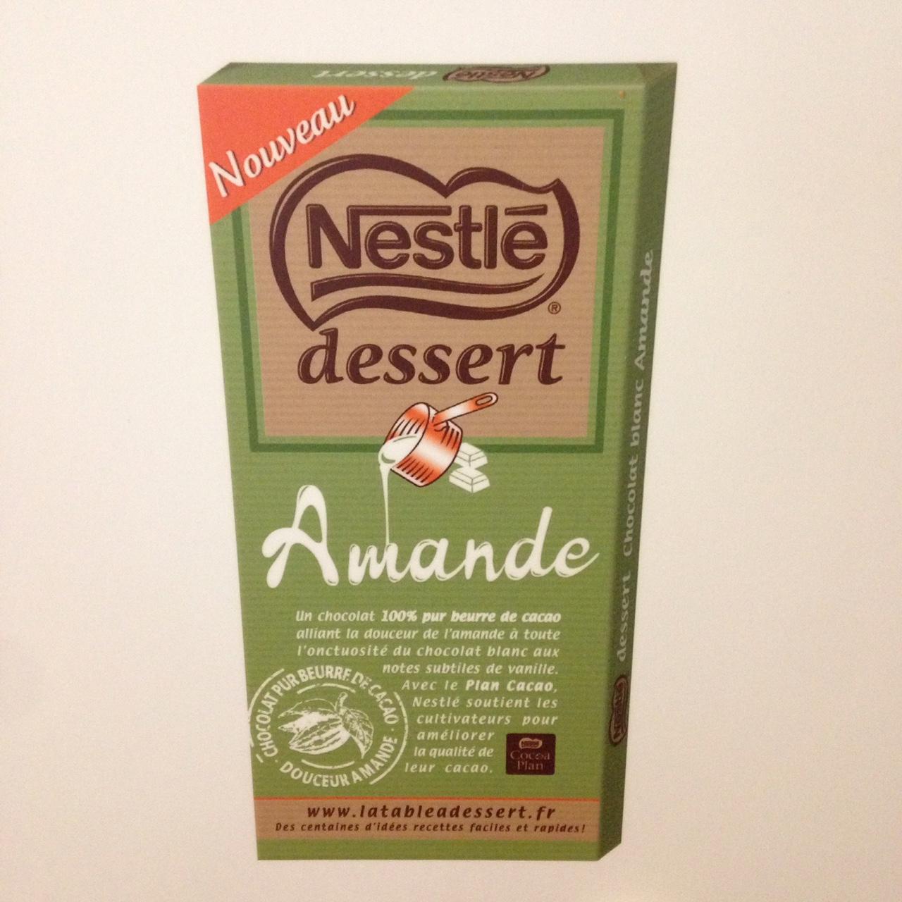 la famille nestl 233 dessert s agrandit avec la tablette amande dans la peau d une fille