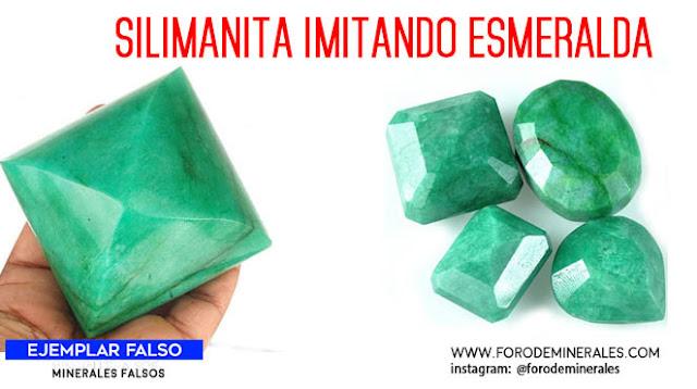 silimanita imitando esmeralda falsa | foro de minerales