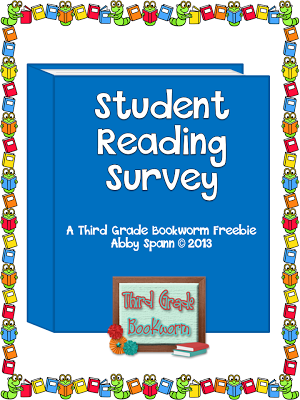 http://www.teacherspayteachers.com/Product/Back-to-School-Student-Reading-Survey-FREEBIE-138064