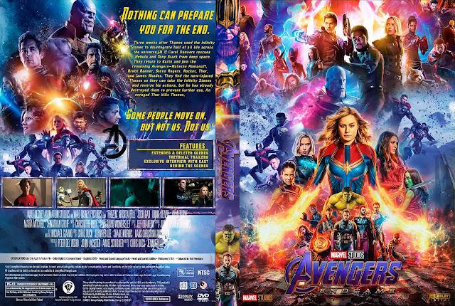 Avengers: Endgame DVD DVD Cover