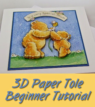How to Do 3D Paper Tole Beginner Tutorial