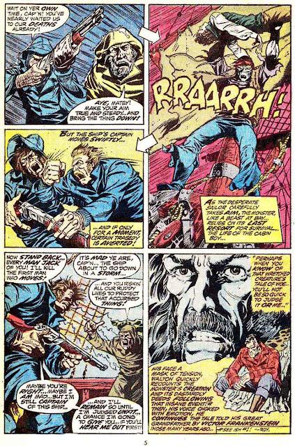 Frankenstein v2 #2 marvel comic book page art by Mike Ploog