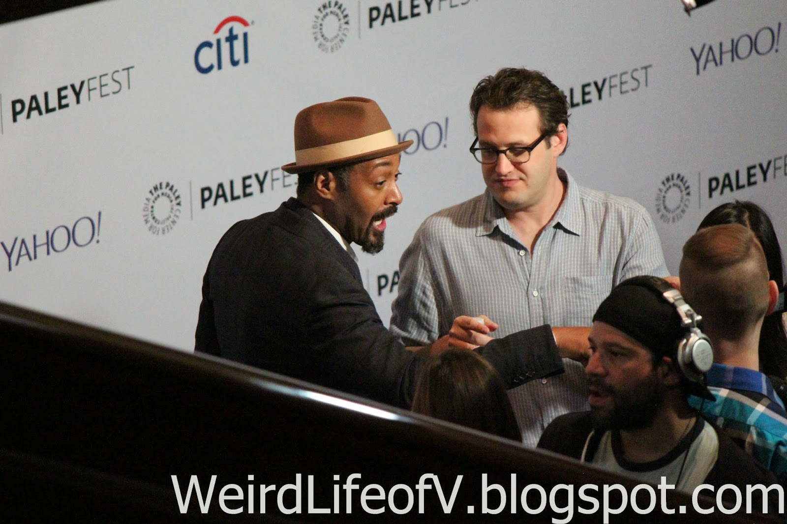 Jesse L. Martin and Andrew Kreisberg doing press