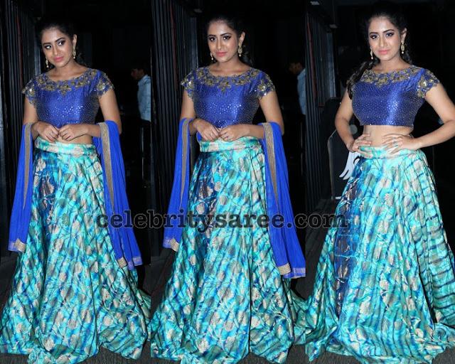 Rashi Singh Blue Lehenga