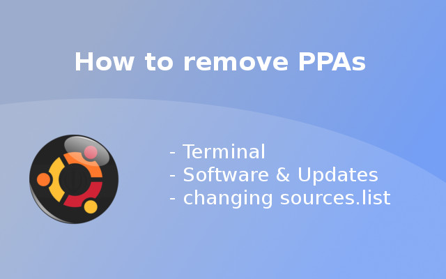 3 Ways to remove PPAs on Ubuntu
