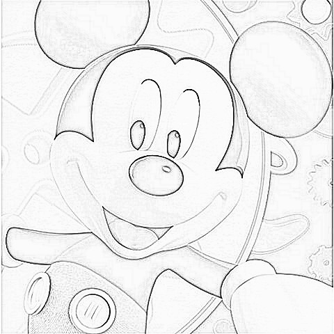 childhood education mickey mouse clubhouse colouring picturesto printandcolour