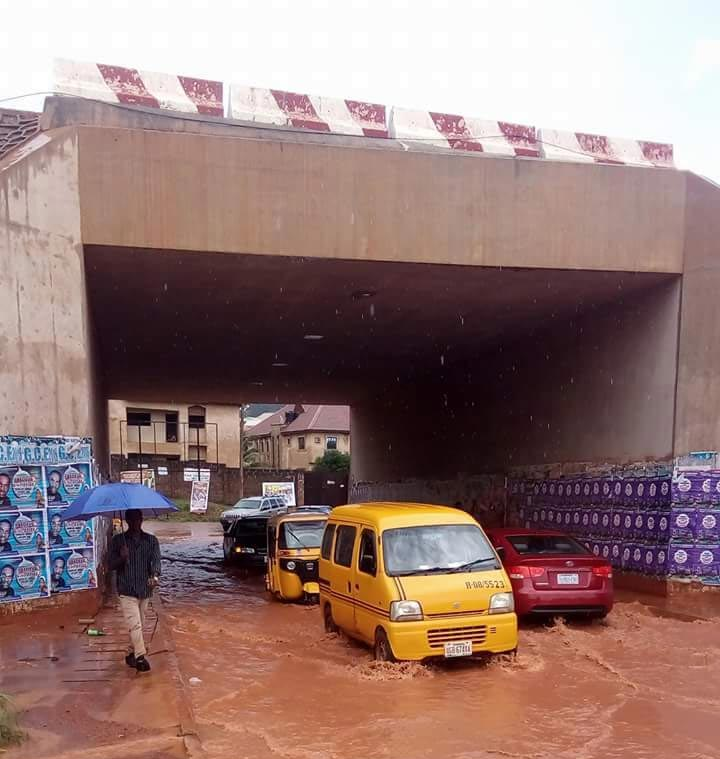 See the state of tunnel at New Heaven, Enugu after a rainfall