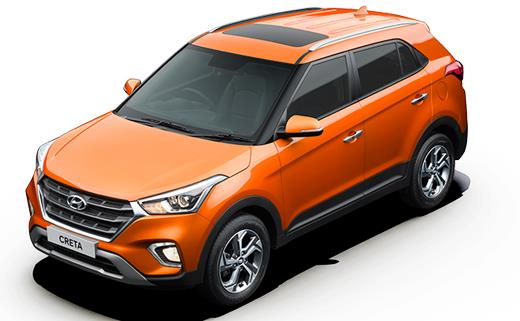 2018 Hyundai Creta Facelift version with sunroof