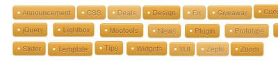 Label tag design for blog