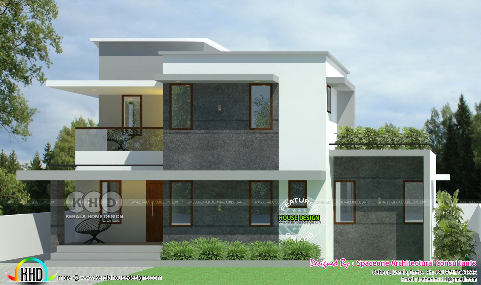 1300 Sq Ft 3 Bhk Sober Colored Home Kerala Home Design
