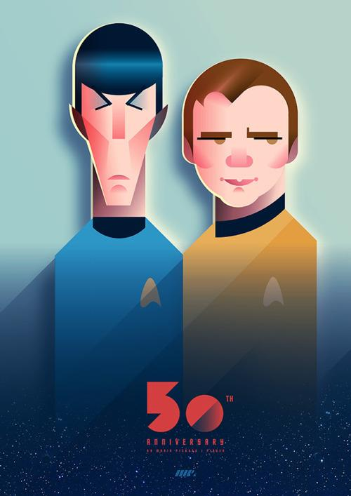 Caricatura de Star Trek por Maria Picassó i Piquer