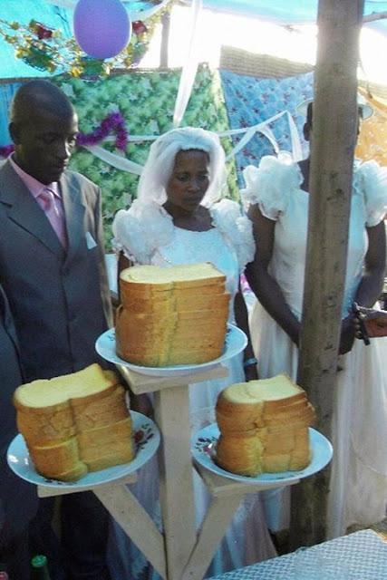 Frank Dudu Bride And Groom Use Bread Has Wedding Cake