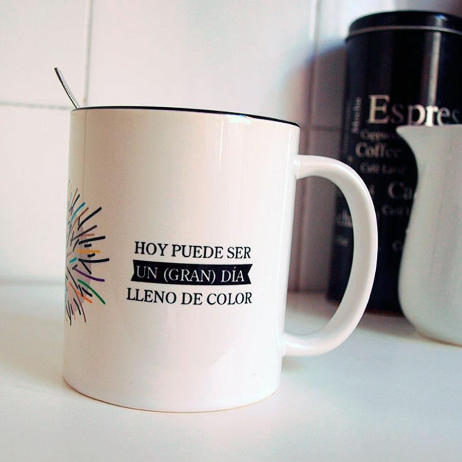 Porque Hoy puede ser un (gran) día lleno de color. ¡Eso sí que es un regalo!  Dibucos
