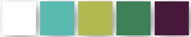 Palette de couleurs Stampin' Up! utilisées pour ce projet