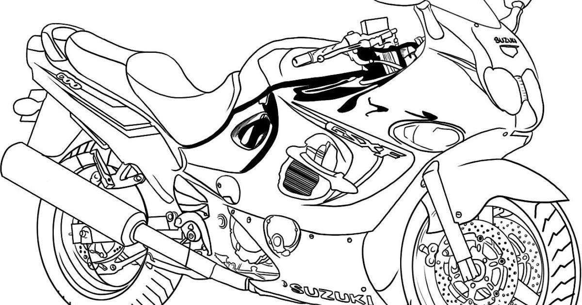 Dessins et coloriages page de coloriage grand format imprimer une belle moto - Coloriage grand format ...