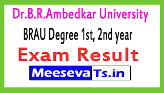 Dr.B.R.Ambedkar University BRAU Degree 1st, 2nd year Exam Results March 2017