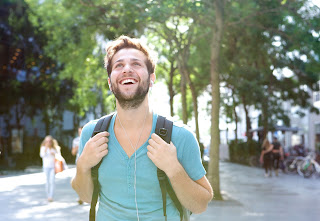 male student smiling