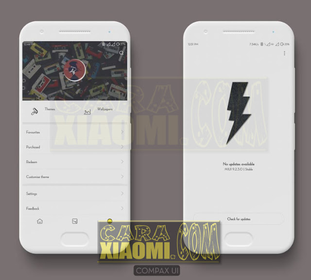 Download Link MIUI Themes Compax UI For Smartphone Xiaomi Redmi V9 Theme