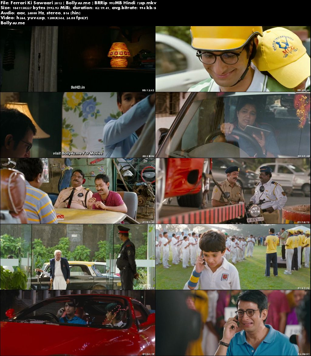 Ferrari Ki Sawaari 2012 BRRip 400MB Hindi 480p Download