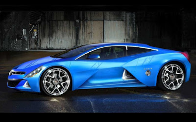 2016 Cadillac Ciana concept car Blue side look image