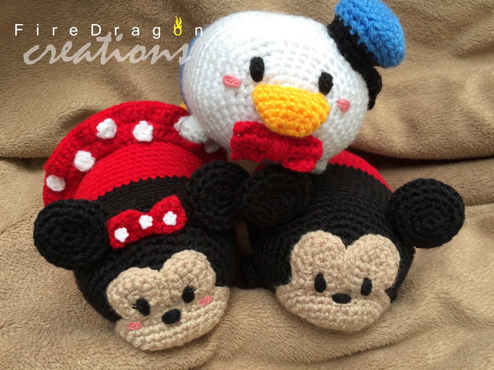 Amigurumi Munecos Disney : FireDragon Creations: Disney TsumTsum Amigurumi