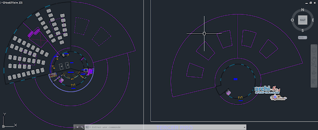 Prisons Center in AutoCAD