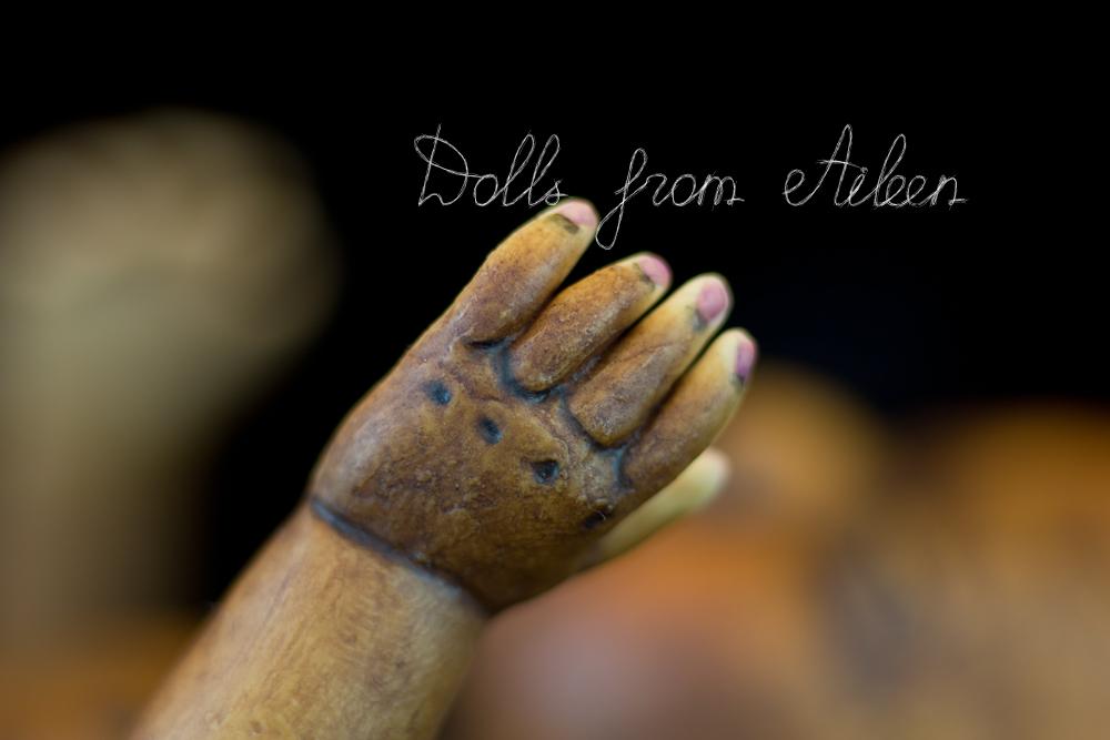 OOAK African baby boy doll's hand