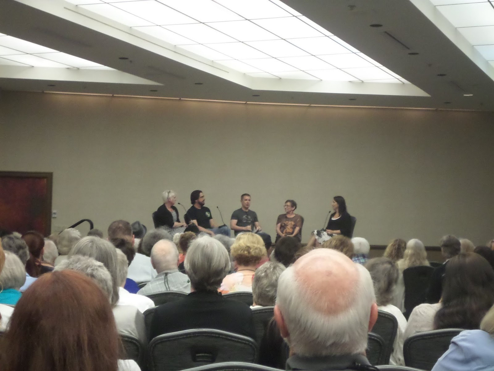 On Saturday I Moderated The Liar's Panel, With Veteran Liars Gary Phillips,  Parnell Hall, Kelli Stanley And Carolyn Haines Lots Of Hilarity
