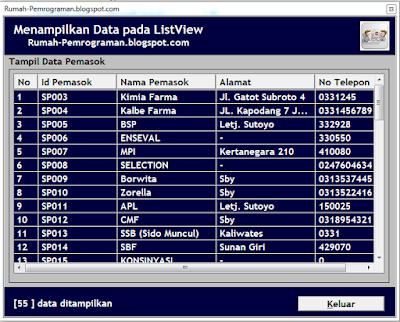 Source Code Menampilkan Data dari Database ke ListView VB6
