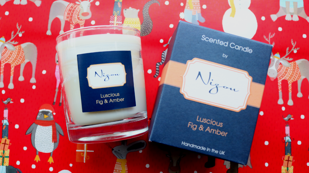 Nizou Scented Candle in Luscious Fig & Amber