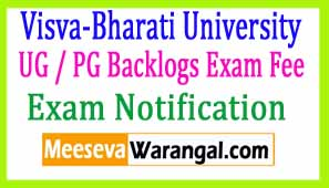 Visva-Bharati University UG / PG Backlogs Exam Fee 2017 Extension Notification