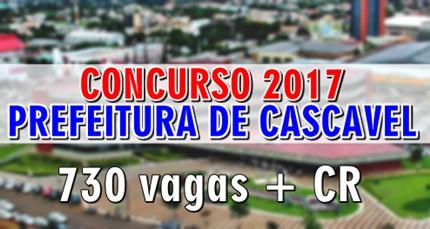 Concurso Prefeitura de Cascavel PR 2017