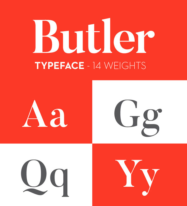 Butler Stencil Font