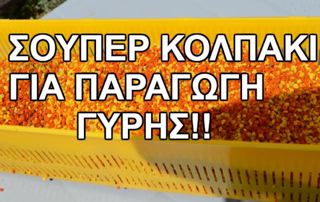 Σούπερ κολπάκι για παραγωγή γύρη. Αυτό δε το ξέρατε...